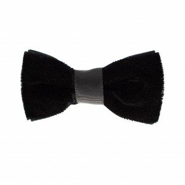Your Little Miss Baby hair clip black velvet