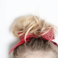 Your Little Miss Haarschleife mit elastischem rotem Leoparden