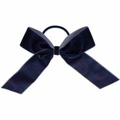 Your Little Miss Hair bow with elastic navy velvet