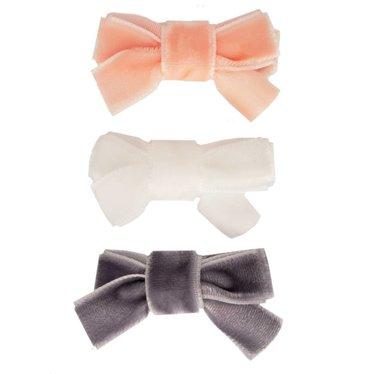 Your Little Miss Set of baby hair clips velvet bow