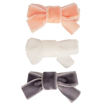 Your Little Miss Setje baby haarspeldjes velvet bow