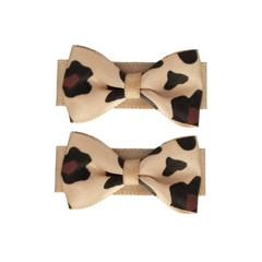 Your Little Miss Baby hair clips leopard