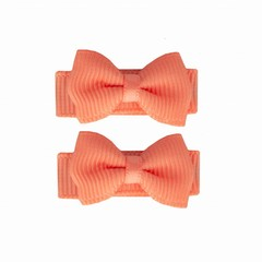 Your Little Miss Baby hair clips with bow peach
