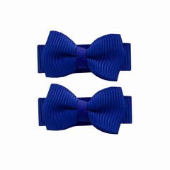 Your Little Miss Baby hair clips with bow blue