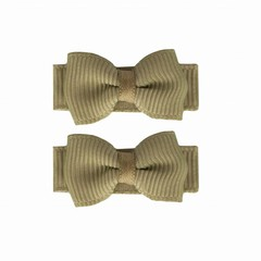 Your Little Miss Baby hair clips with bow light olive