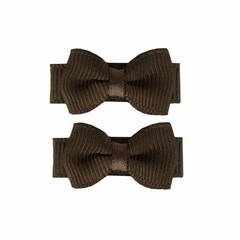 Your Little Miss Baby hair clips with bow dark green