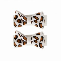 Your Little Miss Baby hair clips leopard white