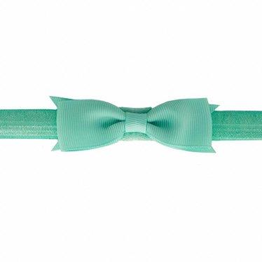 Your Little Miss Baby haarbandje met strik mint green