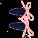 Your Little Miss Setje blauw roze baby haarspeldjes met suede strikje - Copy