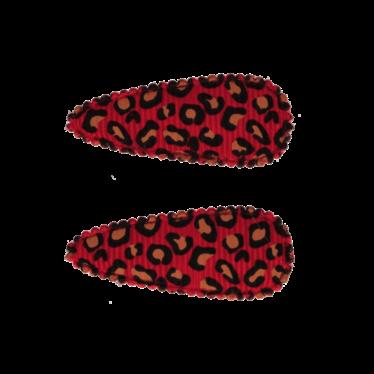 Your Little Miss Baby Haarspangen mit Leopardenmuster rot