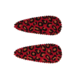 Your Little Miss Baby hair clips with leopard print red