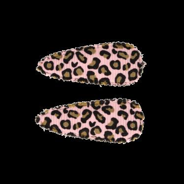 Your Little Miss Babyhaarspangen mit rosa Leopardenmuster