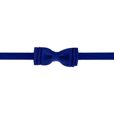 Your Little Miss Baby hair band with double cobalt bow