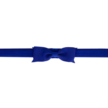 Your Little Miss Baby hair band with cobalt bow