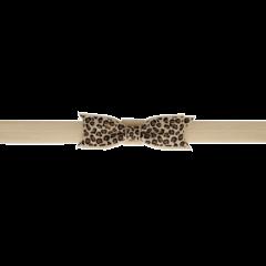 Your Little Miss Fascia per capelli leopardata marrone chiaro