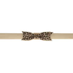 Your Little Miss Leopard baby headband tan