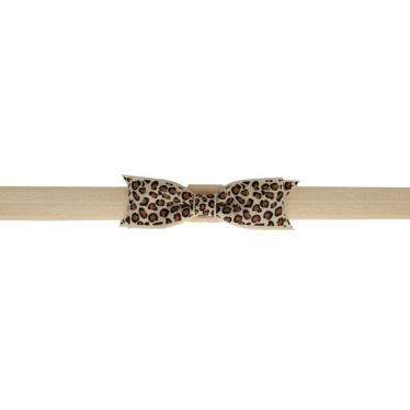 Your Little Miss Leopard Baby Stirnband Tan