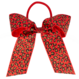 Your Little Miss Hair bow with elastic red leopard