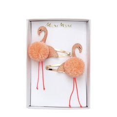 Meri Meri flamingo pom pom hairslides