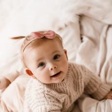 Söta babyhårband med rosett