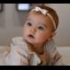 Your Little Miss Weiße neugeborene Babyhaarbandspitze mit Bogen