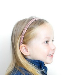 Your Little Miss Slim satin diadem - leopard pink