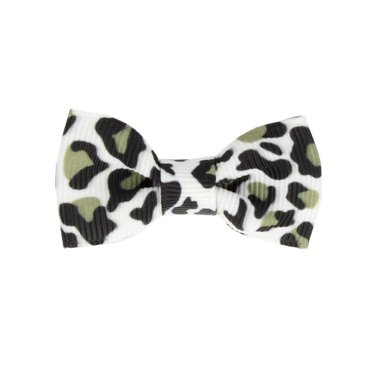 Your Little Miss Baby Barrette Panther Print schwarz