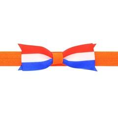 Your Little Miss Baby haarbandje met strik - Koningsdag oranje rood wit blauw