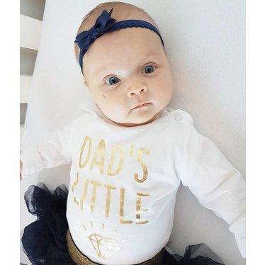 Your Little Miss Cinta para bebé recién nacido con lazo encaje blanco
