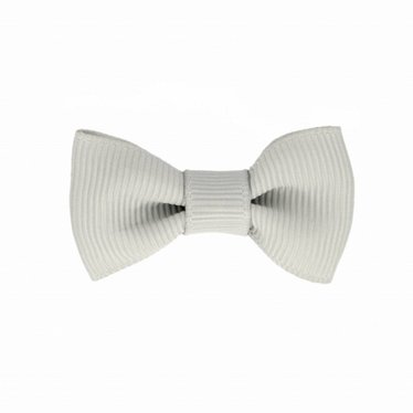 Your Little Miss Baby hair clip grey with bow