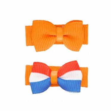 Your Little Miss Fermagli per neonate arancio King's Day