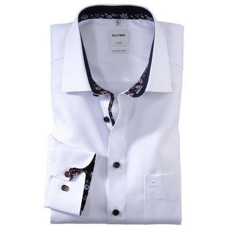 OLYMP Hemd langarm weiss | Kragenweite 42 bis 48