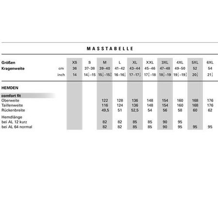 OLYMP Comfort Fit | grosse Grössen 42 bis 48