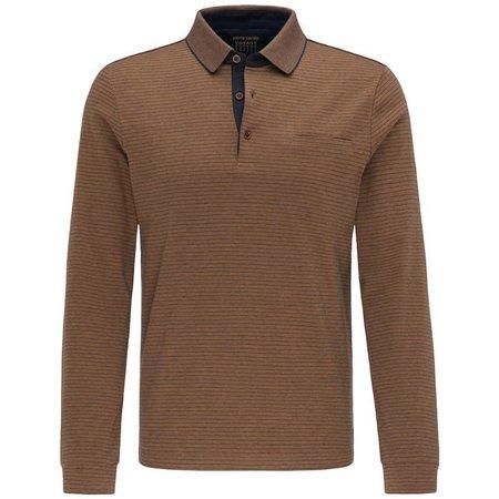 PIERRE CARDIN Pierre Cardin Polo Shirt langarm | L bis 4XL