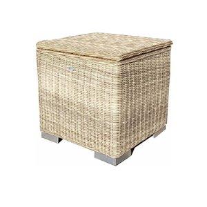 Kussen box I   60 x 60 x 60cm - Naturel - Rond vlechtwerk