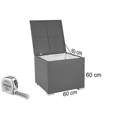Kussen box I - Bruin - Rond vlechtwerk