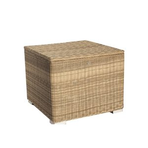 Kussen box II   95 x 95 x 80cm - Naturel - Rond vlechtwerk