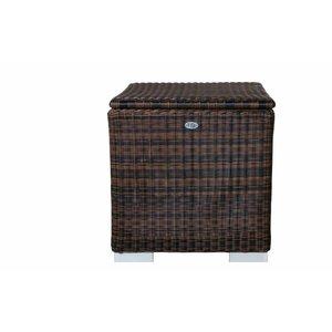 Kussen box II   95 x 95 x 80cm - Bruin - Rond vlechtwerk