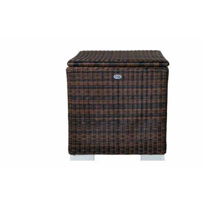 Kussen box II - Bruin - Rond vlechtwerk