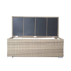 Kussen box III   180 x 75 x 65cm - Naturel - Rond vlechtwerk