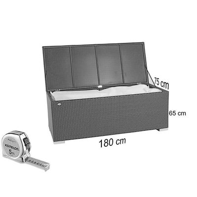 Kussen box III - Bruin - Rond vlechtwerk