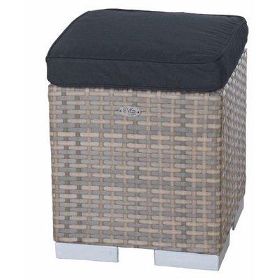 Block Seat Tirana - Cappuccino - Plat vlechtwerk