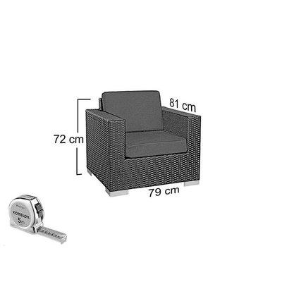 Loungeset Parijs 2111 - Cappuccino - Rond vlechtwerk