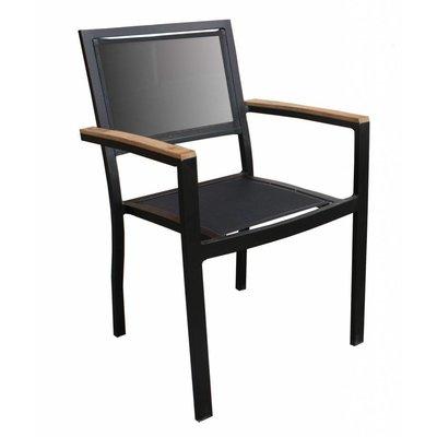 Stapelbare stoel Brighton zwart