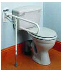 Toiletbeugel - opklapbaar met pootje