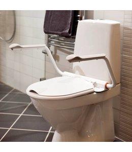 Toilet-armsteunen met bril zonder verhoger