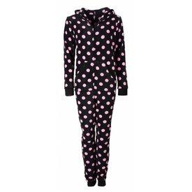 Irresistible Irresistible Dames Pyjama Zwart met Bolletjes