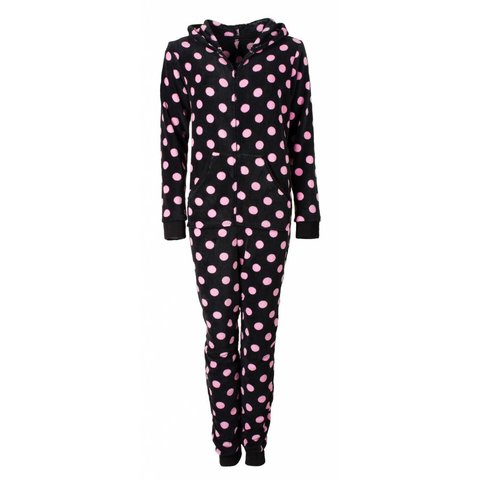 Irresistible Dames Pyjama Zwart met Bolletjes