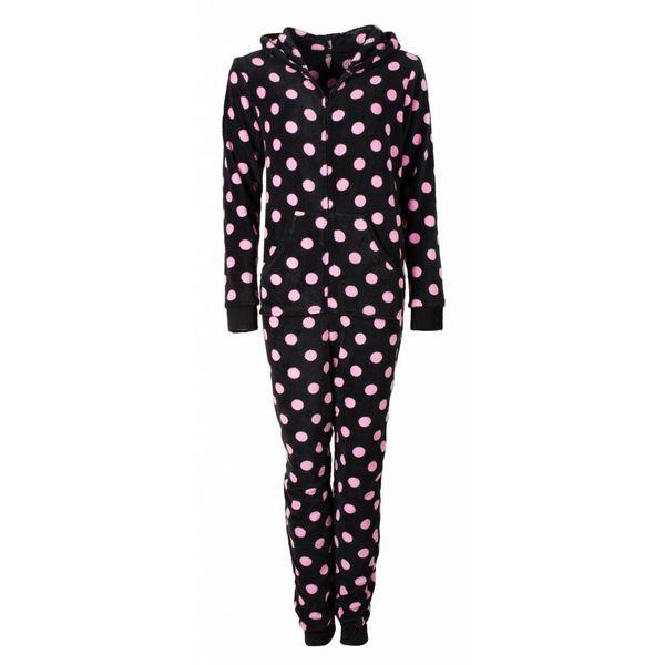 Irresistible Irresistible Dames Onesie Pyjama Zwart IRPYD2611B