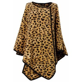 Medaillon Medaillon Dames Poncho Tijger maat One Size